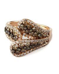 Effy - Metallic Brown Diamonds Ring In 14 Kt. Rose Gold - Lyst