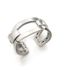 John Hardy - Metallic Classic Chain Sterling Silver Link Cuff Bracelet - Lyst