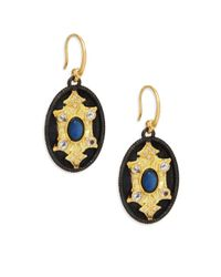 Armenta - Metallic Old World Mother-of-pearl, Topaz & 18k Yellow Gold Drop Earrings - Lyst