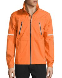 Revo - Orange Detachable Hood Jacket for Men - Lyst