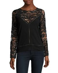 Zero Degrees Celsius | Black Lace Pullover Sweatshirt | Lyst