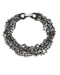 Saks Fifth Avenue - Multicolor Beaded Collar Necklace - Lyst