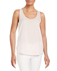 French Connection - White Polly Plains Tank Top - Lyst