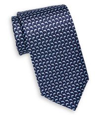 Saks Fifth Avenue - Blue Dolphin Print Silk Tie for Men - Lyst
