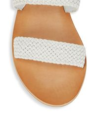 Frye - White Ruth Woven Leather Sandals - Lyst