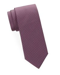 Brioni - Purple Abstract Geometric Silk Tie for Men - Lyst