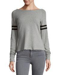 R + R Surplus - Gray Boatneck Varsity Sweatshirt - Lyst
