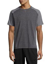Saks Fifth Avenue | Black Crewneck Raglan-sleeve T-shirt for Men | Lyst