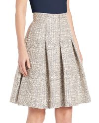 Akris Punto - Gray Cross-stitch Jacquard A-line Skirt - Lyst