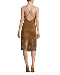 Lovers + Friends - Brown Firefly Crisscross Back Shift Dress - Lyst