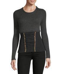 Altuzarra - Black Bateson Corset Sweater - Lyst