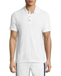 Vilebrequin - White Active Belrose Intarsia Striped Heathered Polo for Men - Lyst