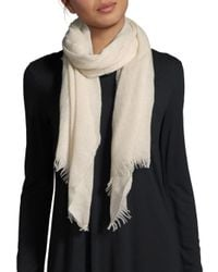 Saks Fifth Avenue | Natural Lightweight Cashmere Scarf | Lyst