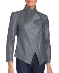 Saks Fifth Avenue - Gray Long Sleeve Front Zip Jacket - Lyst