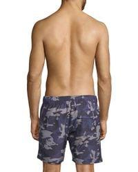 Slate & Stone - Blue Camouflage-print Swim Shorts for Men - Lyst
