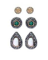 Noir Jewelry - Multicolor Teardrop-shaped Earrings - Lyst