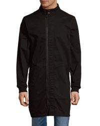 Publish - Black Stand-collar Woven Jacket for Men - Lyst