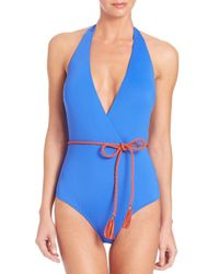 Lazul | Blue One-piece Goldie Plunge Swimsuit | Lyst