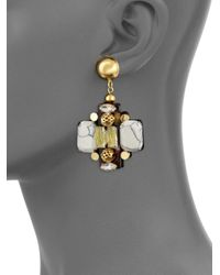 Nocturne - Metallic Crystal Drop Earrings - Lyst