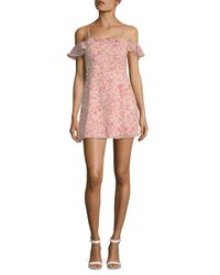 For Love & Lemons - Pink Aurora Ruffle Mini Dress - Lyst