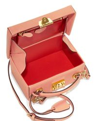 Mark Cross - Pink Grace Small Leather Box Crossbody Bag - Lyst