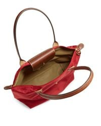 Longchamp - Red 'large Le Pliage' Tote - Lyst