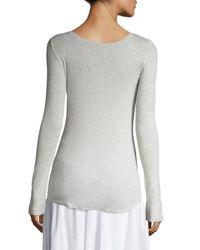 Vince - White Shirttail Cotton Tee - Lyst