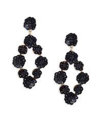 Gemma Simone - Black Sequin Drop Earrings - Lyst