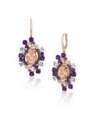 Le Vian - Metallic Crazy Semi-precious, Multi-stone And 14k Strawberry Gold Drop Earrings - Lyst