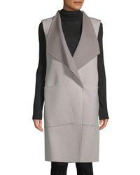 SOIA & KYO - Multicolor Turndown Sleeveless Coat - Lyst
