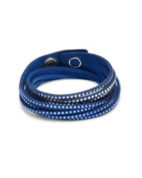 Swarovski   Blue Crystal Slake Medium Bracelet   Lyst