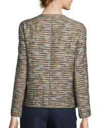 Lafayette 148 New York - Multicolor Keaton Metallic Striped Jacket - Lyst