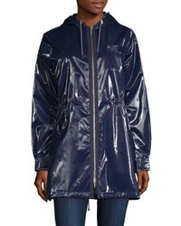Jane Post - Blue London Shiny Metallic Parka - Lyst