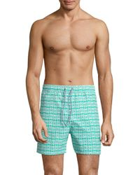 Psycho Bunny - Blue Graphic Swim Shorts for Men - Lyst