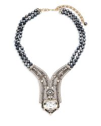 Heidi Daus - Metallic Lux Hematite Statement Necklace - Lyst