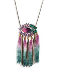 Tataborello | Multicolor Beaded Tasseled Necklace | Lyst