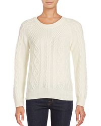 Saks Fifth Avenue - Natural Cashmere Blend Sweater - Lyst