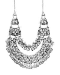Saks Fifth Avenue - Metallic Embellished Bib Necklace - Lyst