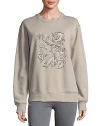 Balenciaga - Natural Dropped Shoulder Cotton Pullover - Lyst