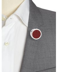 Hook + Albert - Red Leather Lapel Pin - Lyst