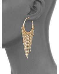 Panacea - Metallic Fringe Drop Earrings - Lyst