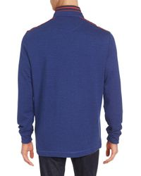 Bugatchi | Blue Quarter Zip-front Pullover for Men | Lyst