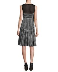 Missoni - Black Printed Illusion Dress - Lyst