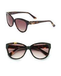 O By Oscar De La Renta | Brown 56mm Cat's Eye Sunglasses | Lyst