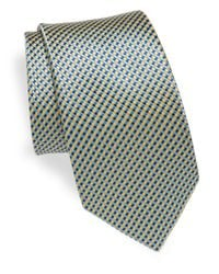 Saks Fifth Avenue - Blue Tricolor Silk Tie for Men - Lyst