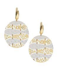 Saks Fifth Avenue - Metallic Two-tone Gold Dangle Earrings - Lyst