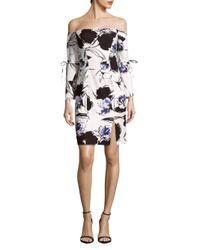 Alexia Admor - White Solid Ruffle Hem Sheath Dress - Lyst