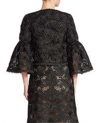 Oscar de la Renta - Black Wool & Silk Lace Jacket - Lyst