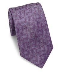 Eton of Sweden - Purple Paisley Silk Tie for Men - Lyst