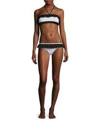 Jonathan Simkhai - Black Bandeau Halter Bikini Top - Lyst